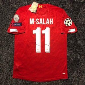 Mo Salah Liverpool Champions League Jersey 2019